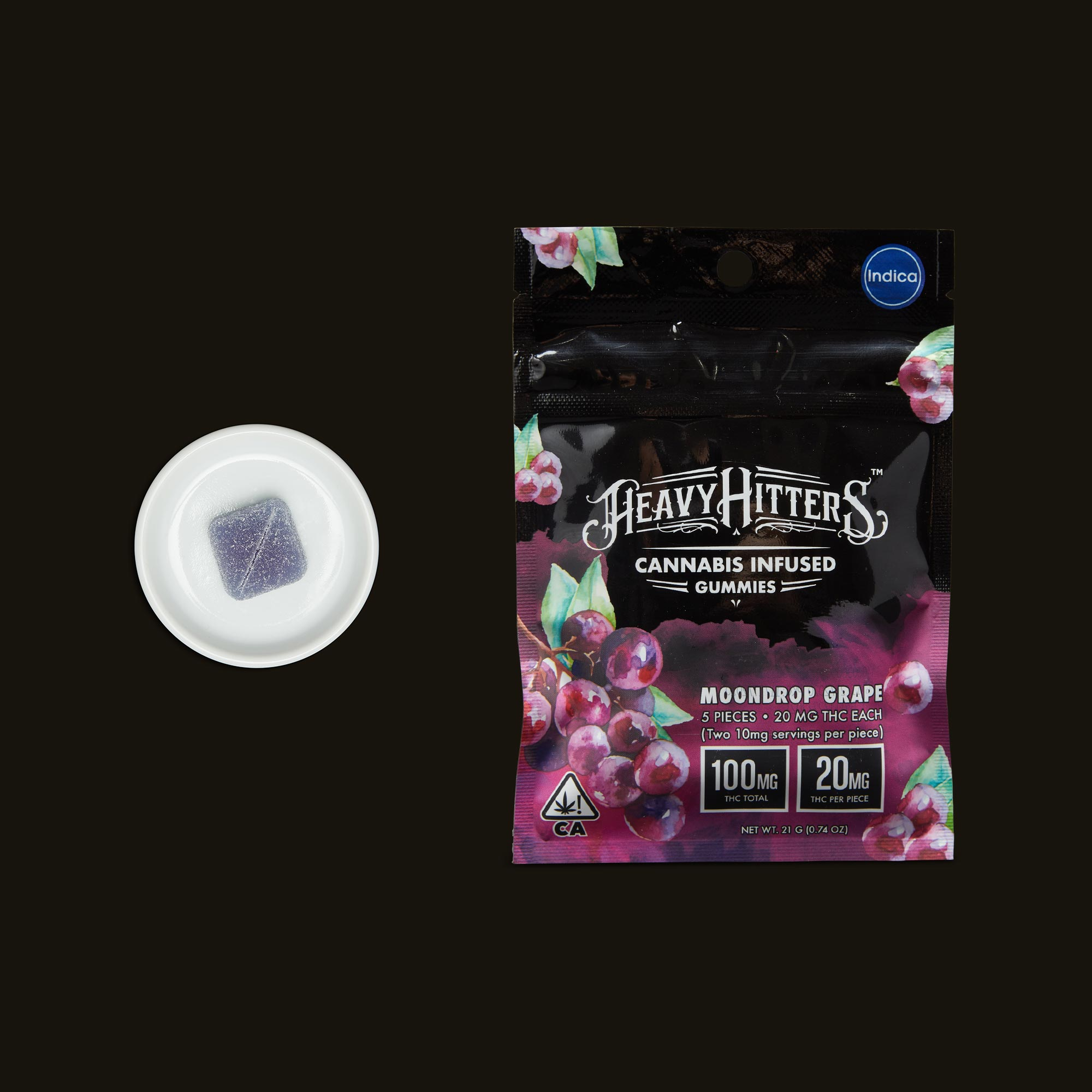 Heavy Hitters Moondrop Grape Gummies