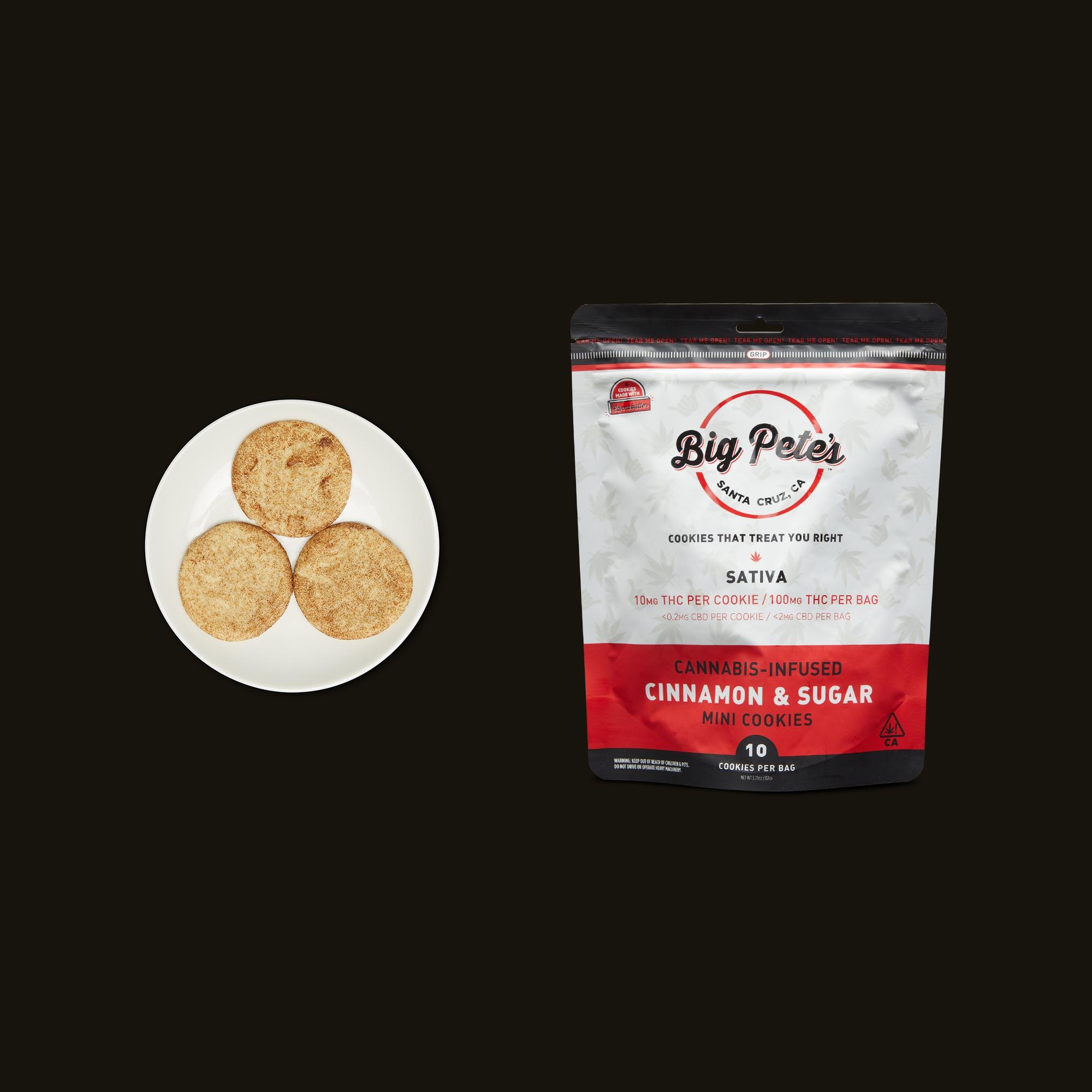 Big Pete's Treats Sativa Cinnamon & Sugar Mini Cookies