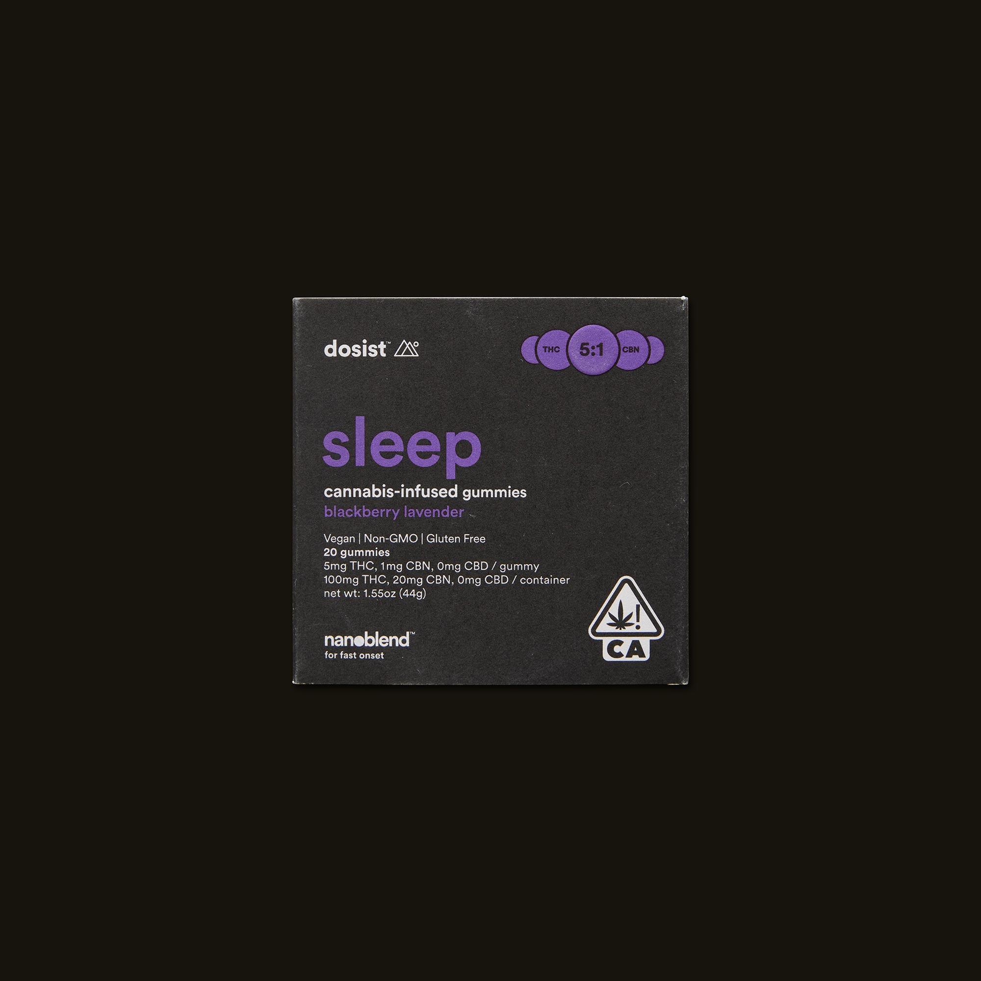 dosist sleep blackberry lavender gummies front packaging
