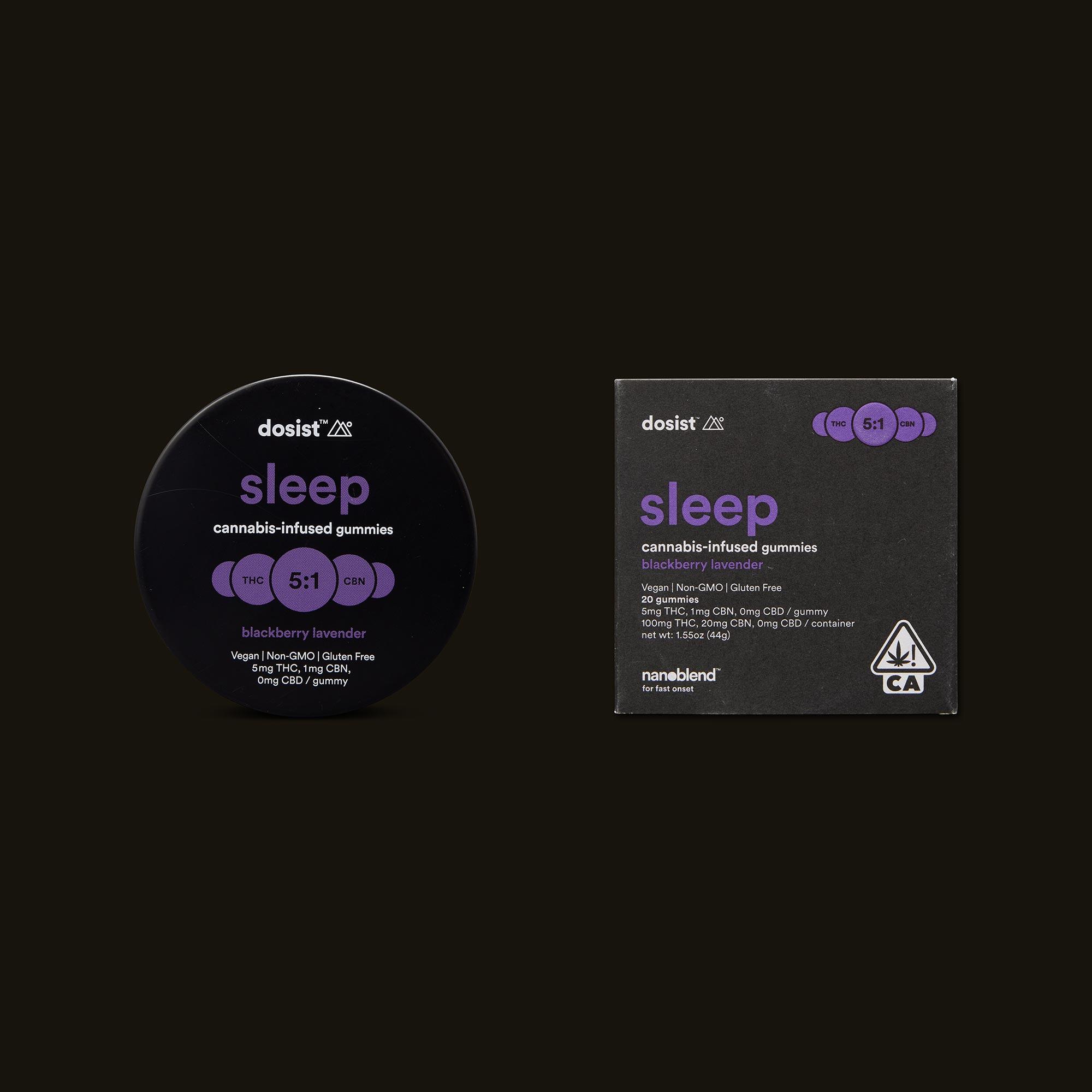dosist sleep blackberry lavender gummies packaging