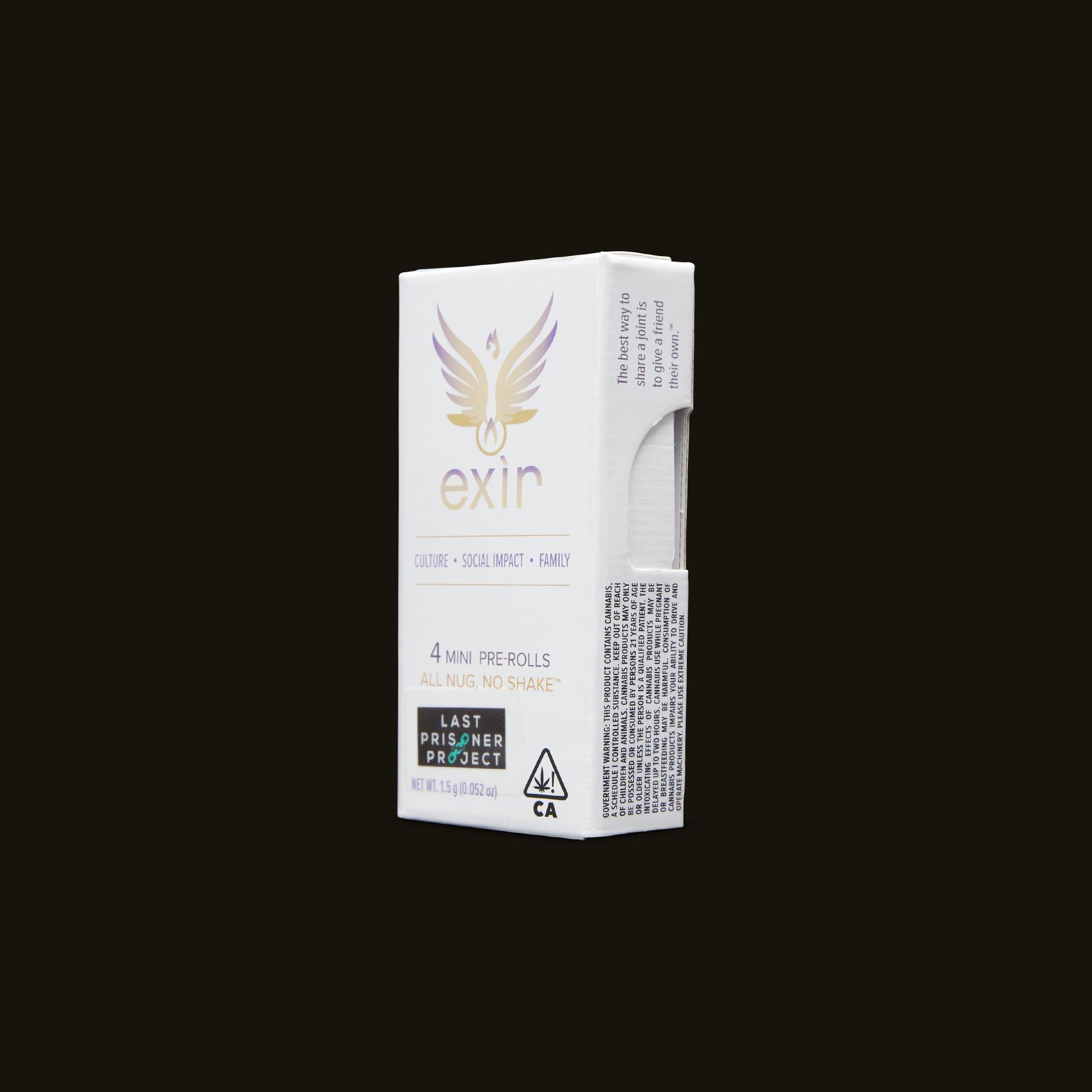 Exir Venom OG Mini Pre-Rolls Side Packaging