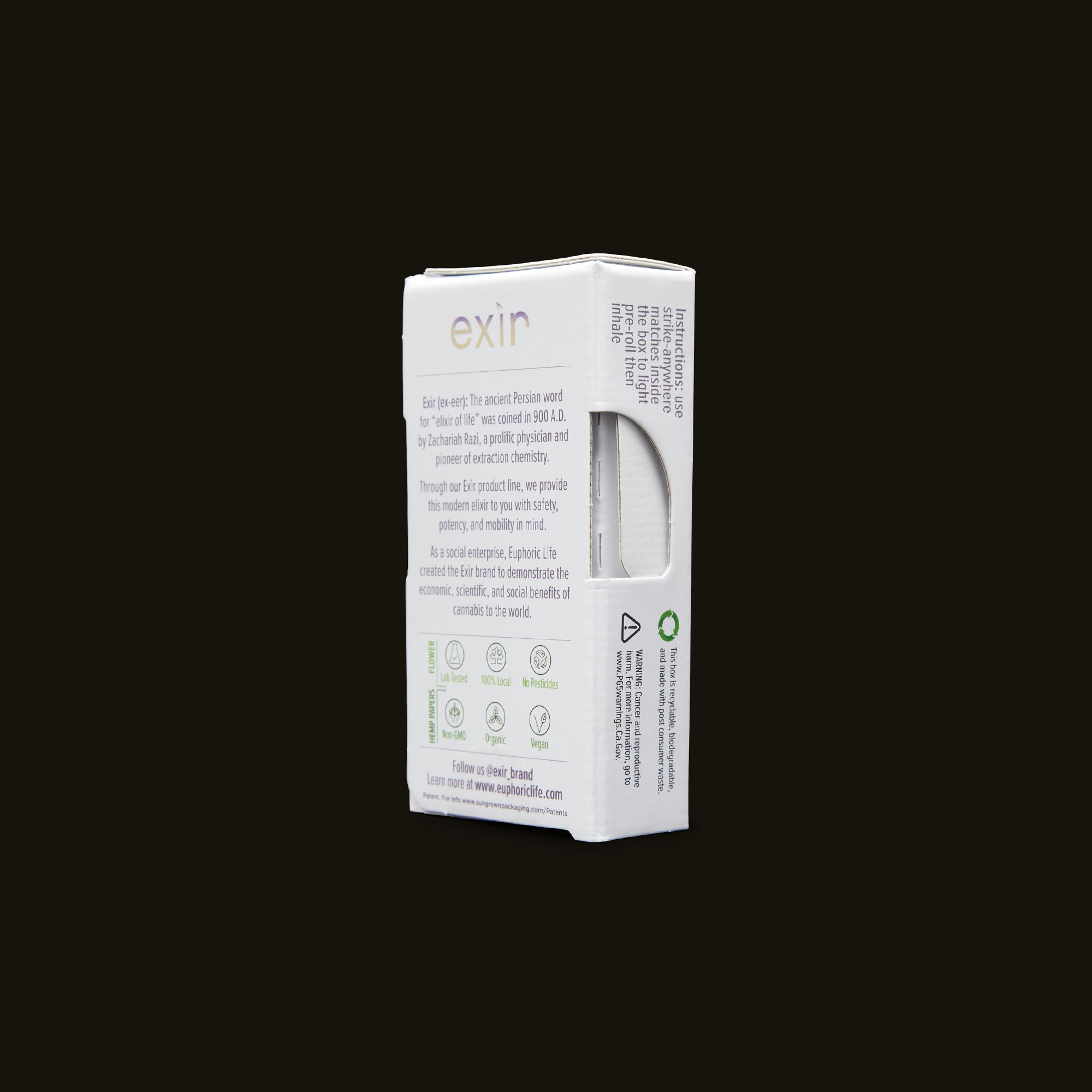 Exir Venom OG Mini Pre-Rolls Back Packaging