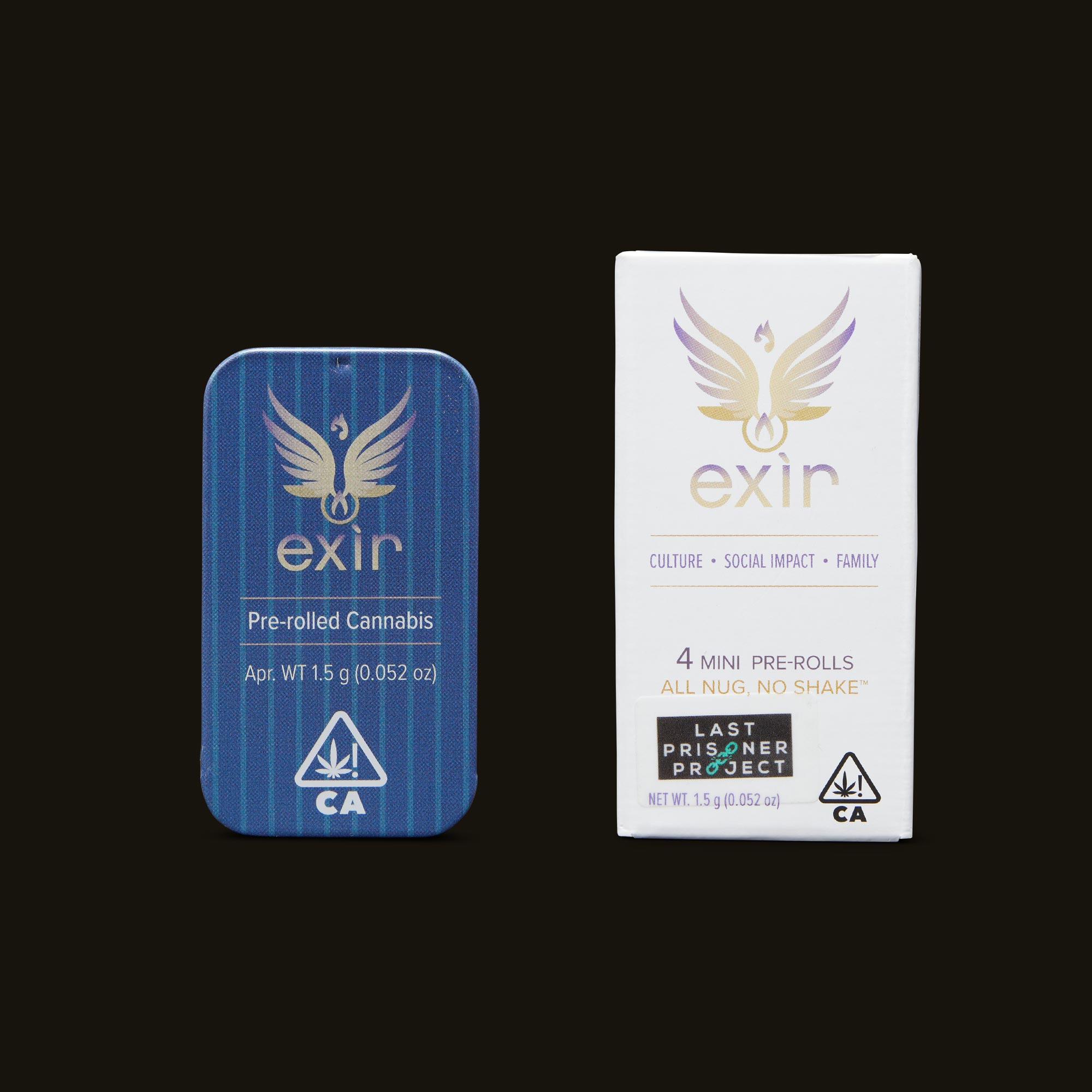 Exir Venom OG Mini Pre-Rolls Inner Packaging and Packaging