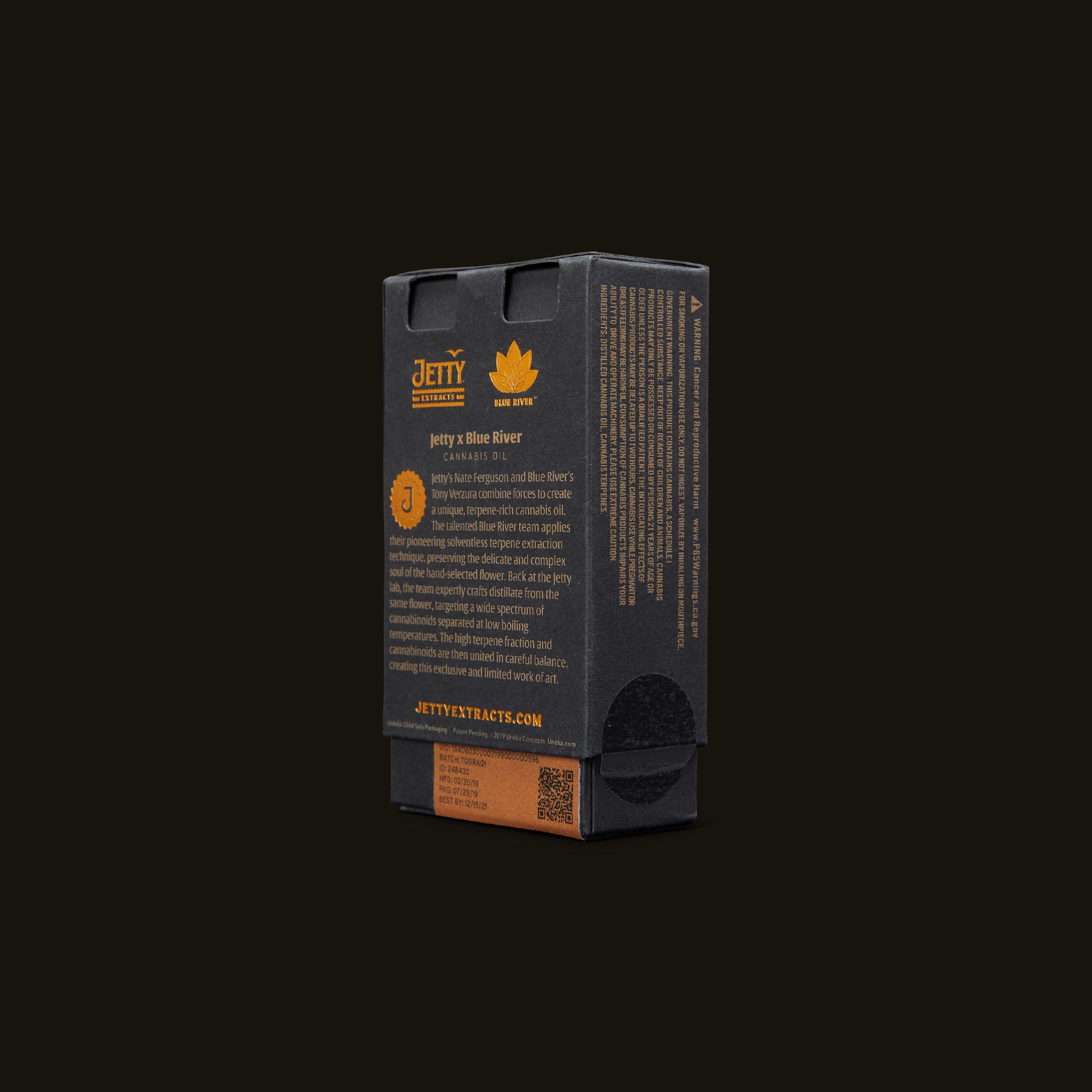 Jetty Extracts Reserve Vape Cartridge - African Queen Back Packaging