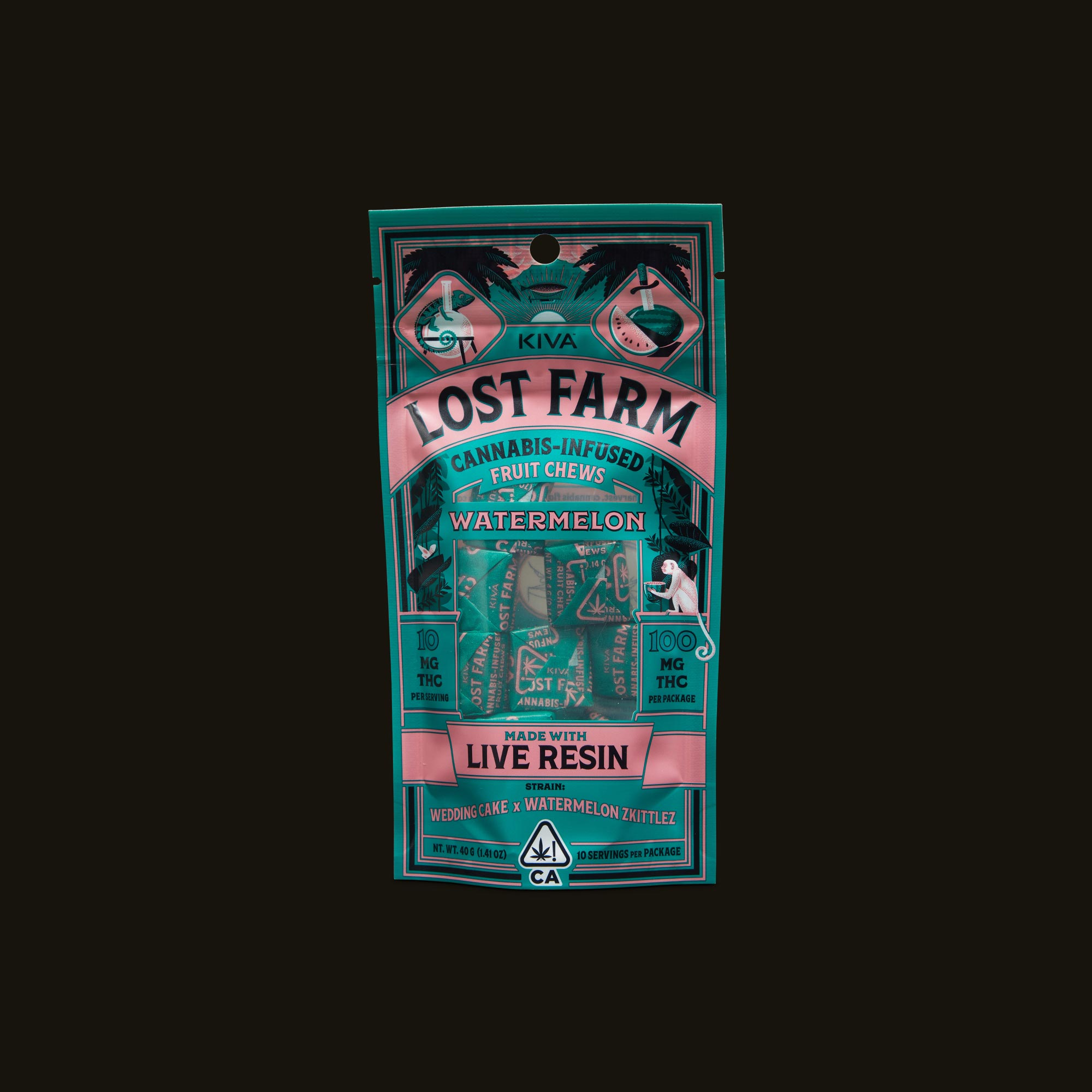 Kiva Confections Lost Farm Watermelon Chews Front Packaging