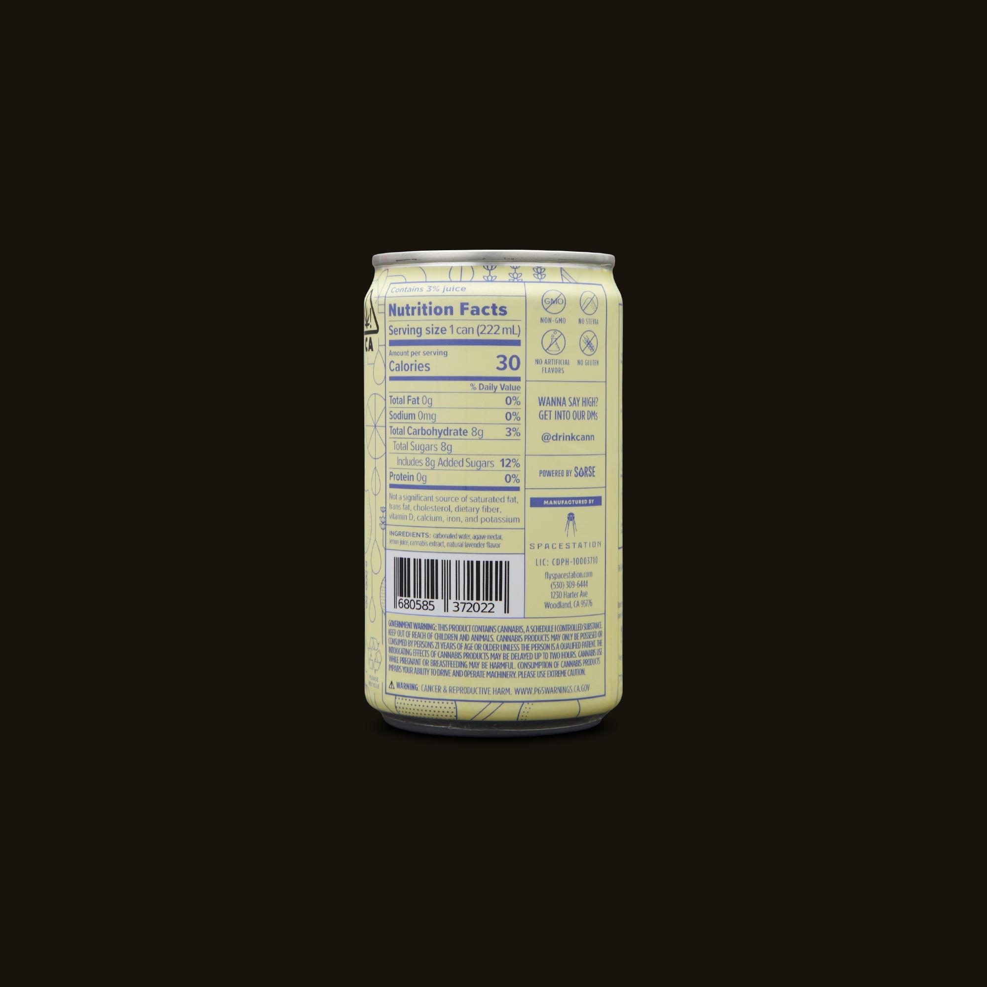 Cann Lemon Lavender Social Tonic Ingredients