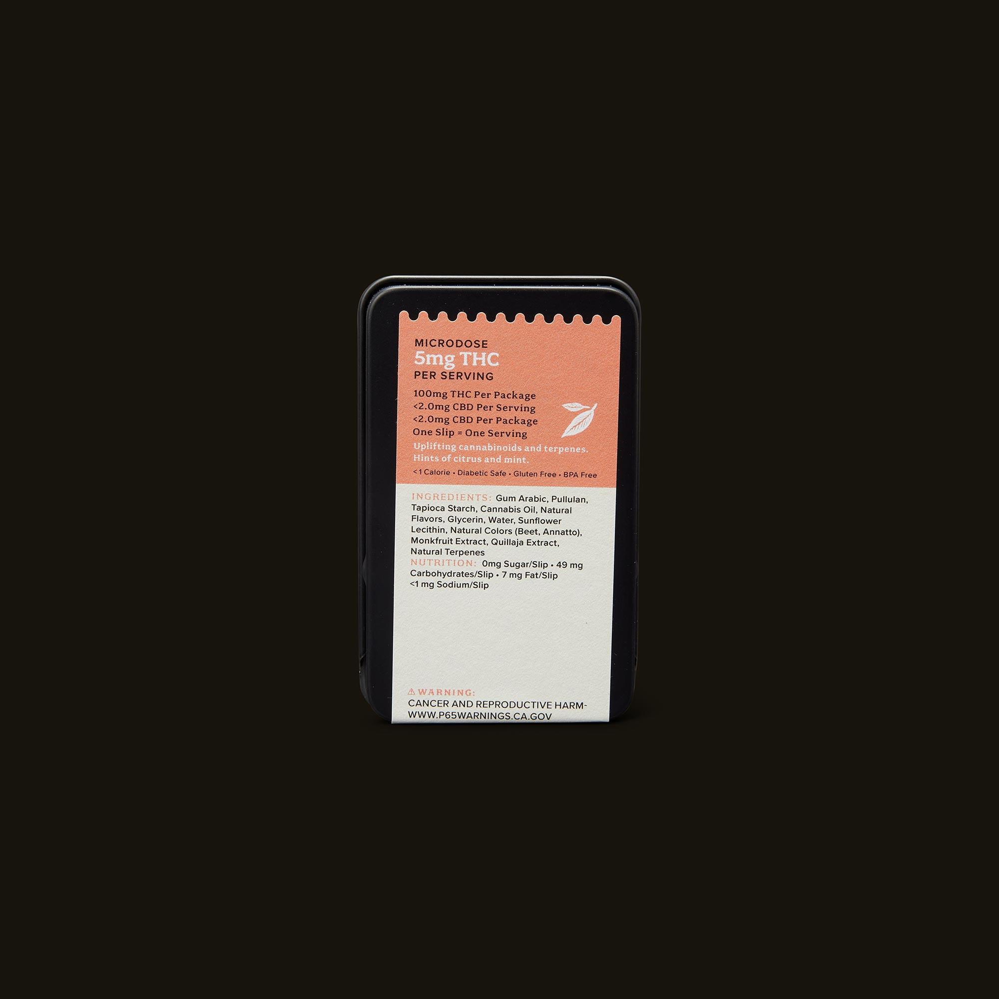 Kin Slips Cloud Buster Microdose Back Packaging