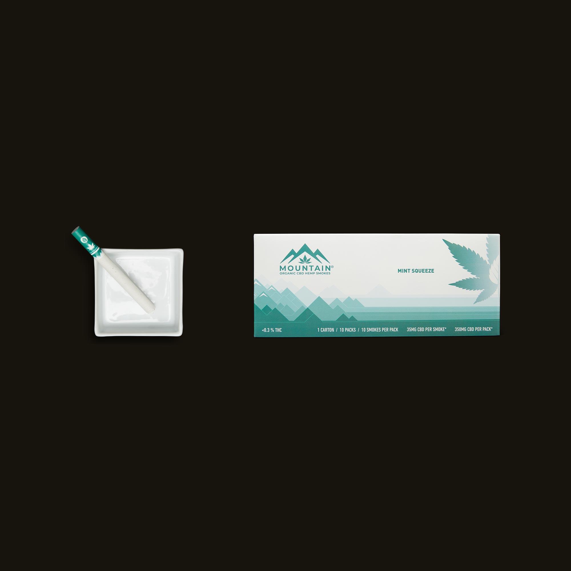 Mountain Smokes Mint Squeeze Carton of 10 Packs (35mg CBD)