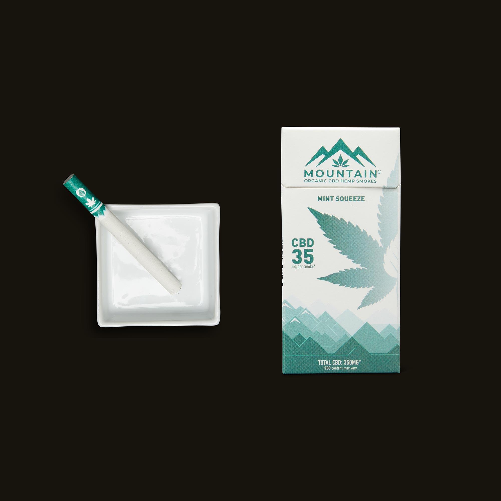 Mountain Smokes Mint Squeeze 10-Pack (35mg CBD)