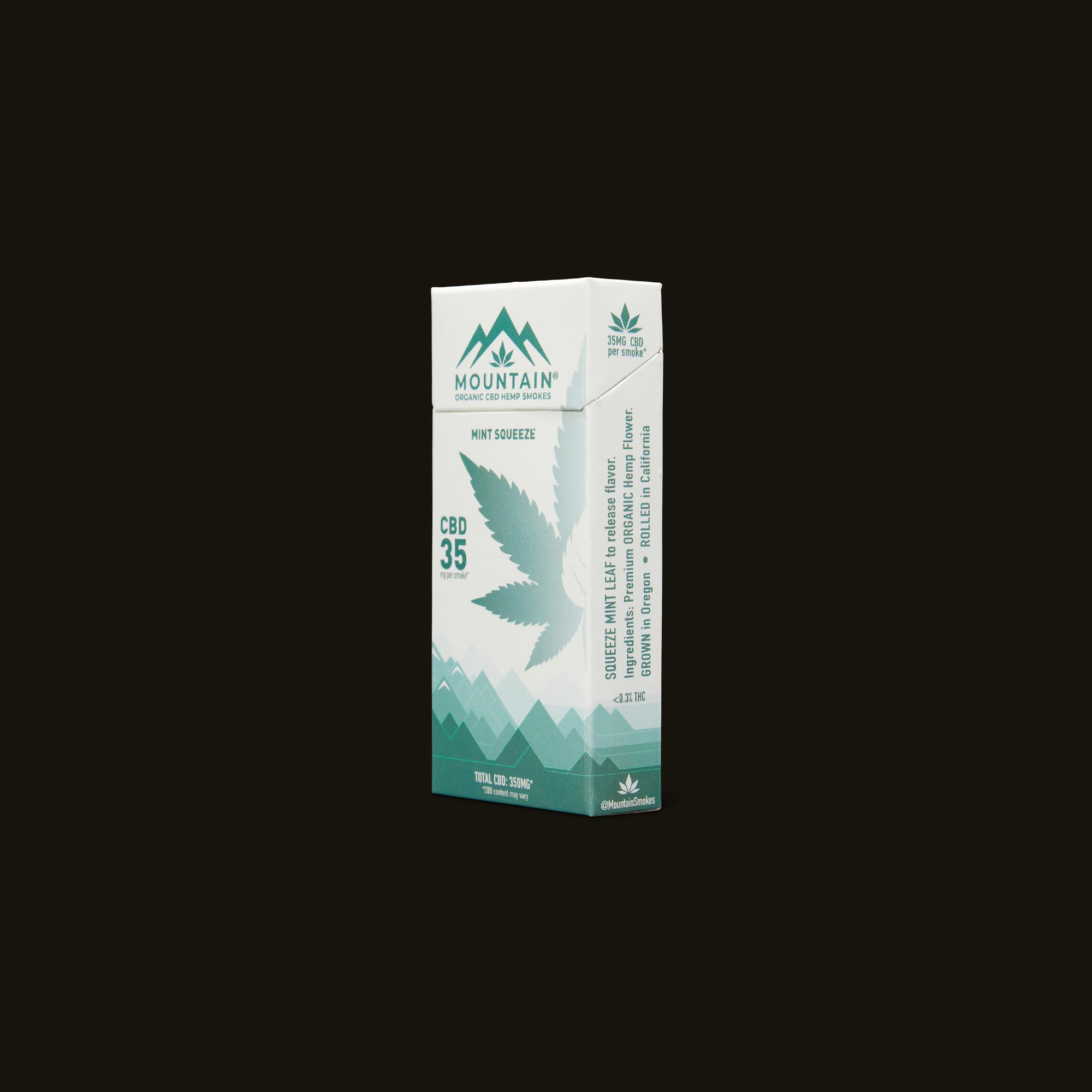 Mountain Smokes Mint Squeeze 10-Pack (35mg CBD) Side Packaging