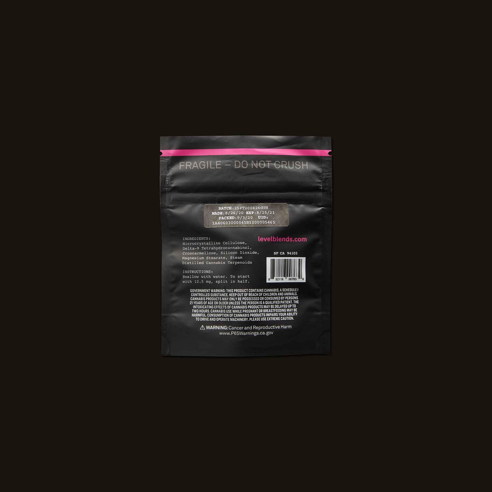 LEVEL Hybrid Protab Refill Pack Ingredients