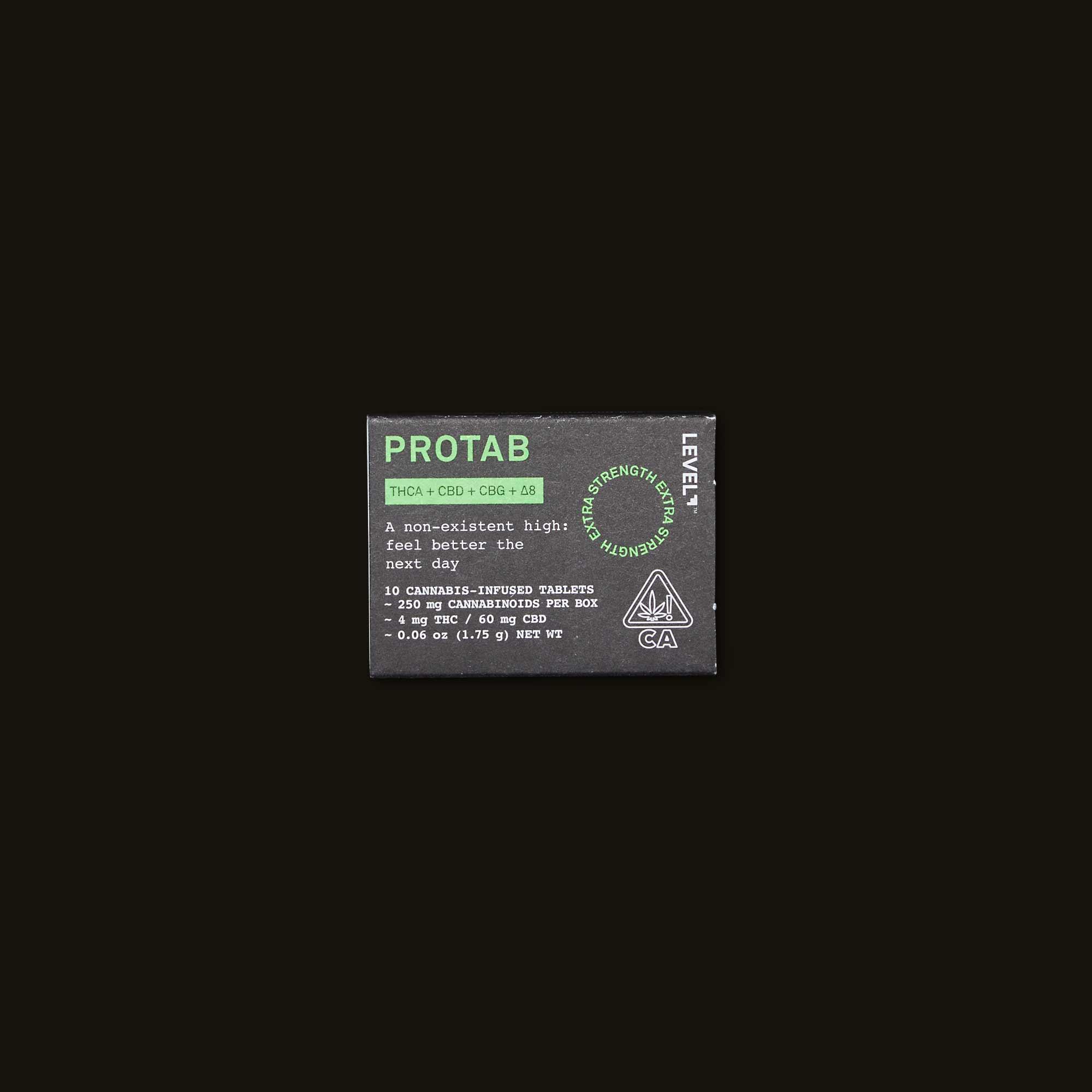 Protab THCA + CBD + CBG + ^8 Hangover Pills