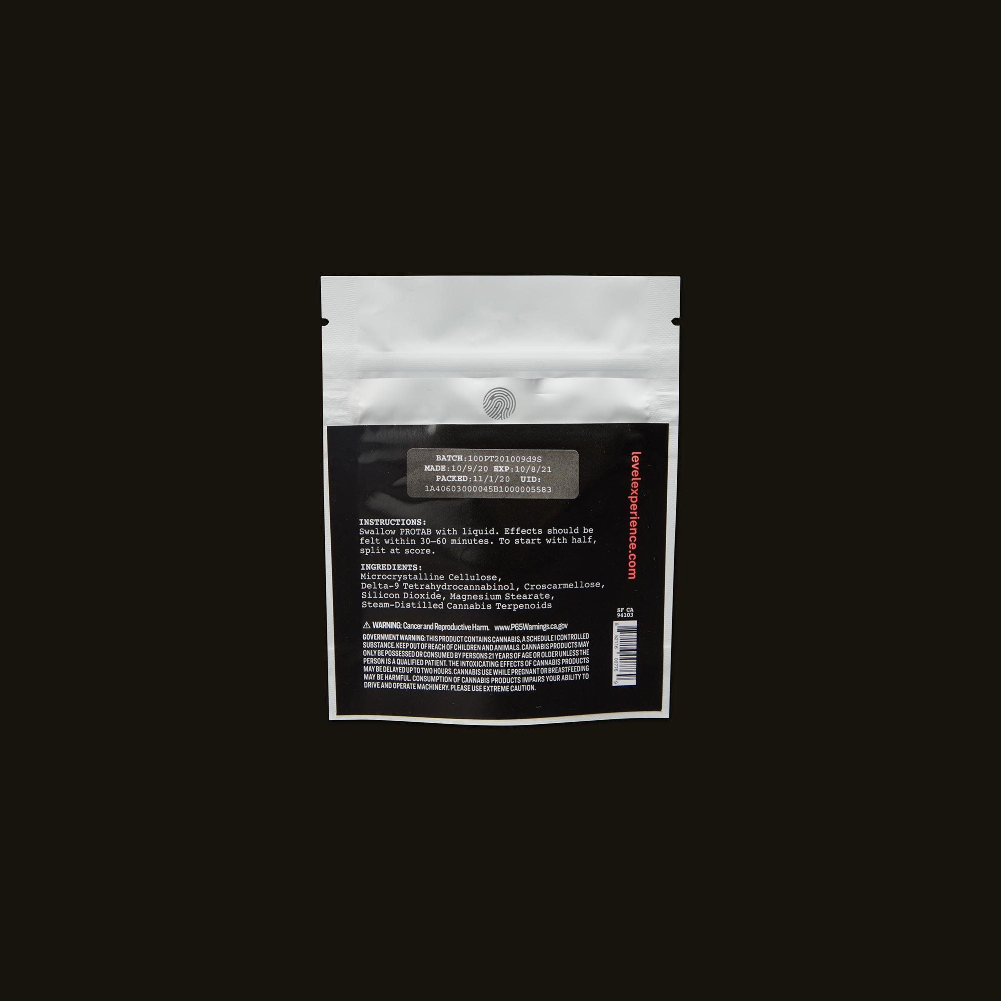 LEVEL Sativa Protab 100 Ingredients