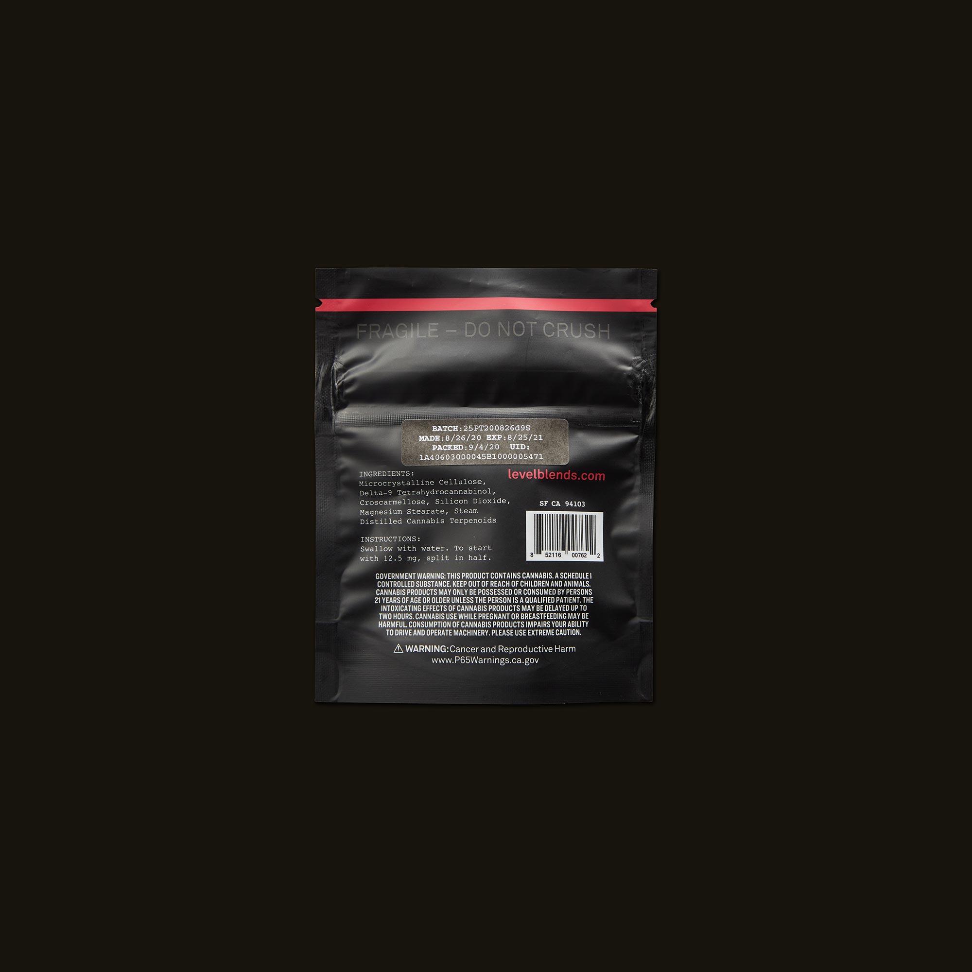 LEVEL Sativa Protab Refill Pack Ingredients