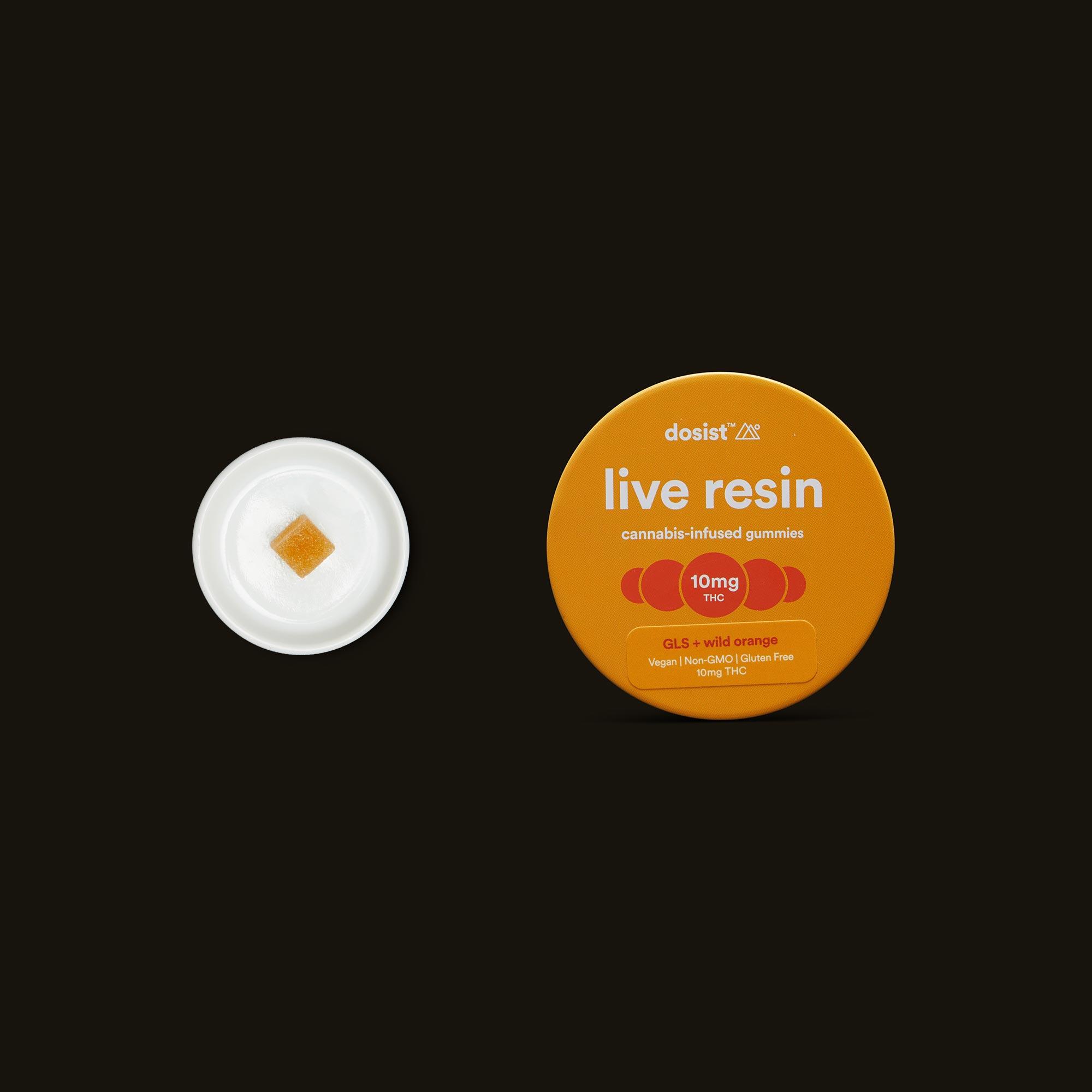 dosist live resin GLS indica + wild orange gummies