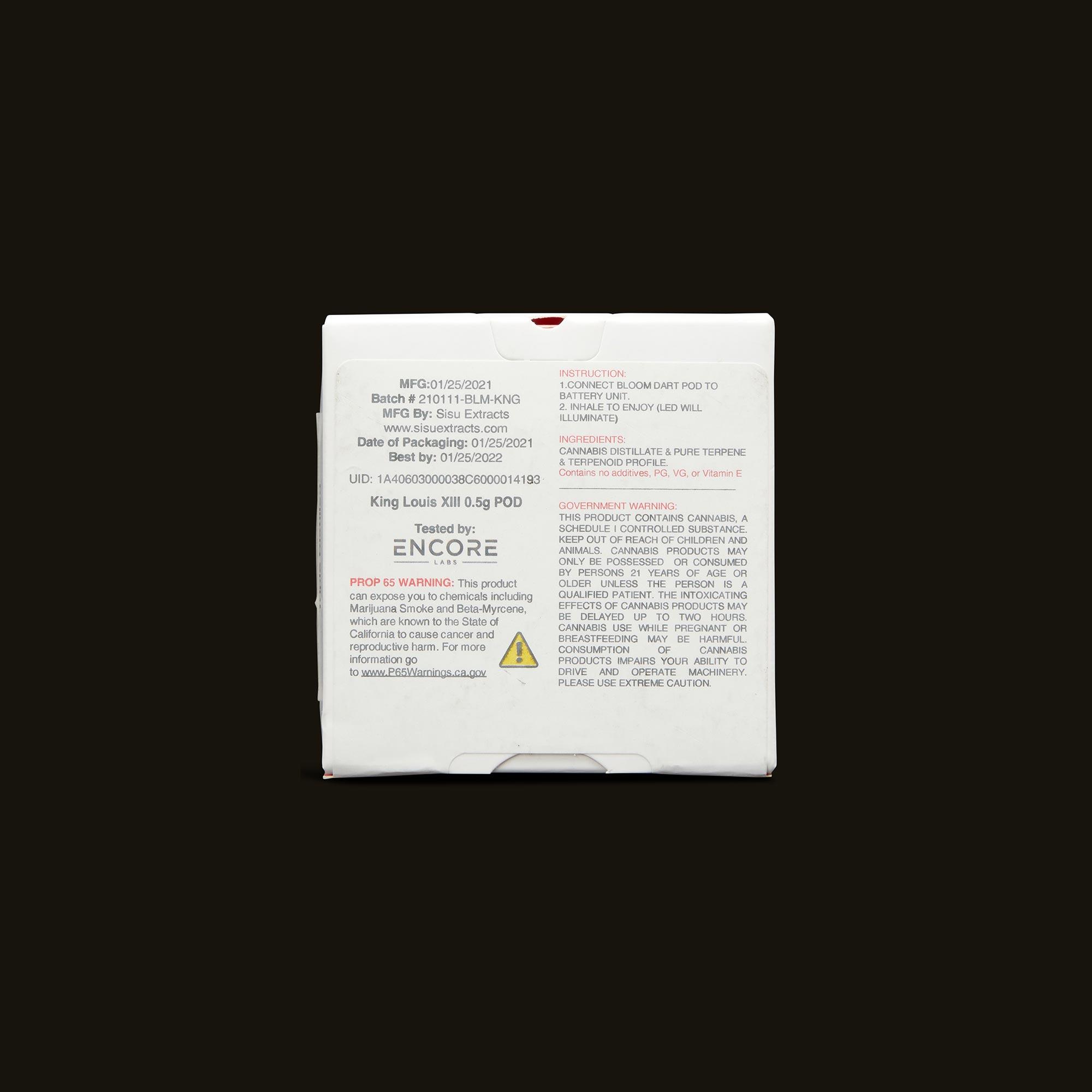 Bloom Brands Vape Pen - King Louis XIII Dart Pod