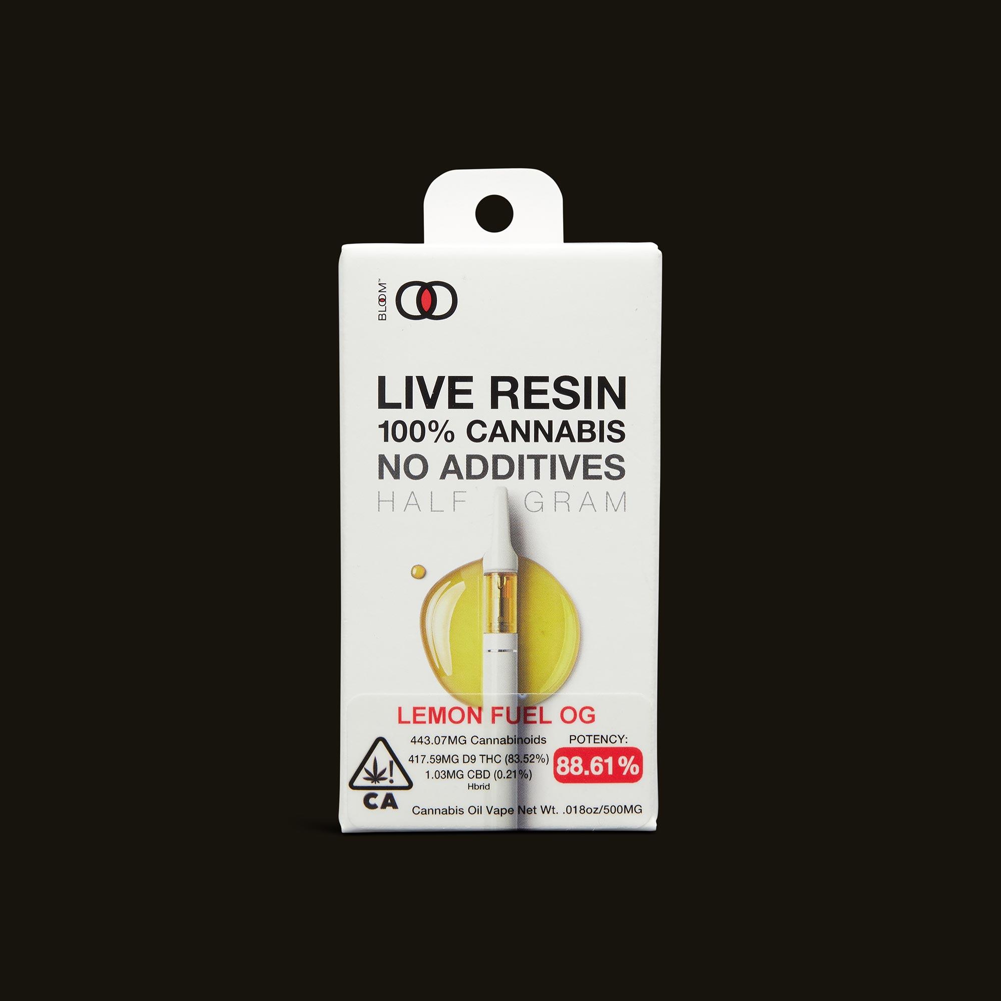 Lemon Fuel OG Live Resin Cartridge - 1g - 1g cartridge